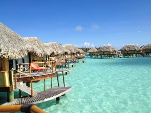 bungalow bora bora close up