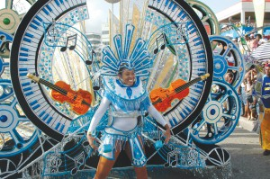 Saint Lucia - Carnival Girl in Blue Costume
