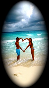 Cozumel, Mexico - Heart Couple