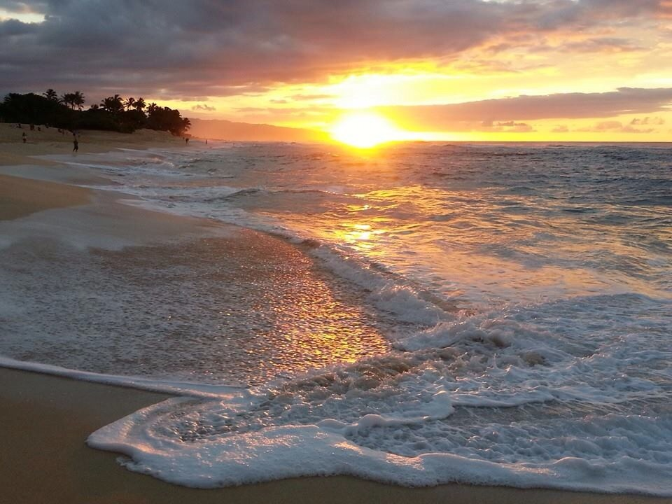 Hawaiian Islands of Oahu - Sunset Beach