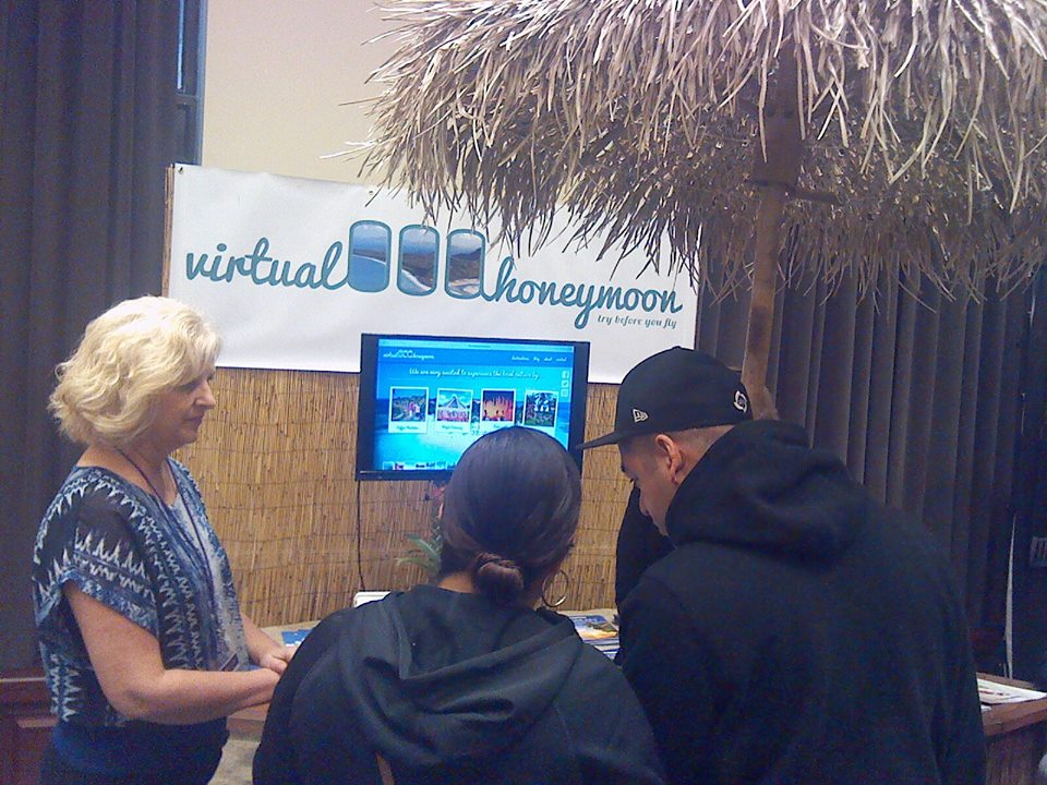 Virtual reality travel and honeymoons