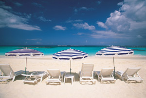 Beautiful beaches on island of St. Martin