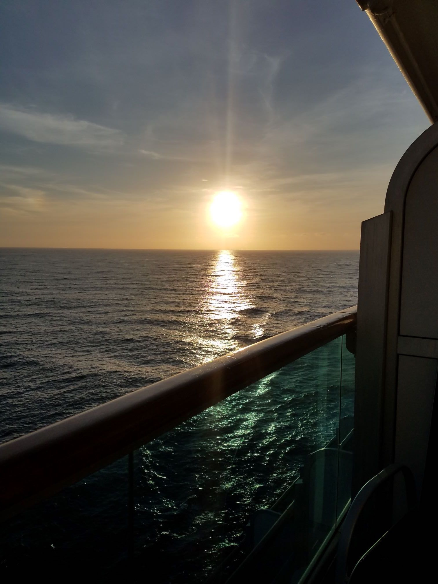 sunsets at sea